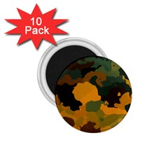 Background For Scrapbooking Or Other Camouflage Patterns Orange And Green 1 75  Magnets (10 Pack)  by Nexatart