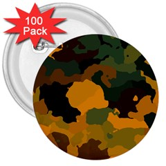 Background For Scrapbooking Or Other Camouflage Patterns Orange And Green 3  Buttons (100 Pack)  by Nexatart