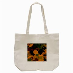 Background For Scrapbooking Or Other Camouflage Patterns Orange And Green Tote Bag (cream) by Nexatart
