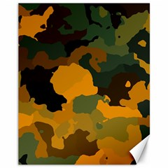 Background For Scrapbooking Or Other Camouflage Patterns Orange And Green Canvas 11  X 14
