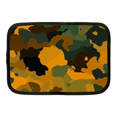 Background For Scrapbooking Or Other Camouflage Patterns Orange And Green Netbook Case (medium)