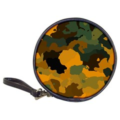 Background For Scrapbooking Or Other Camouflage Patterns Orange And Green Classic 20 Cd Wallets