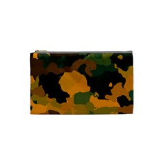 Background For Scrapbooking Or Other Camouflage Patterns Orange And Green Cosmetic Bag (small)