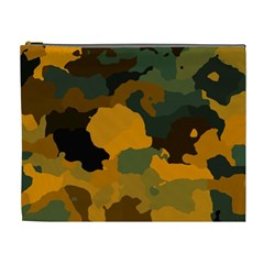 Background For Scrapbooking Or Other Camouflage Patterns Orange And Green Cosmetic Bag (xl) by Nexatart