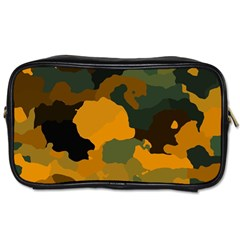 Background For Scrapbooking Or Other Camouflage Patterns Orange And Green Toiletries Bags 2 Side by Nexatart
