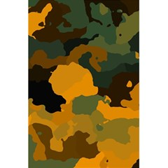 Background For Scrapbooking Or Other Camouflage Patterns Orange And Green 5 5  X 8 5  Notebooks by Nexatart