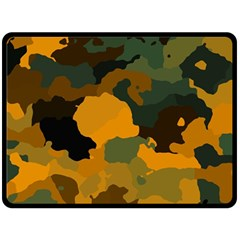Background For Scrapbooking Or Other Camouflage Patterns Orange And Green Fleece Blanket (large)