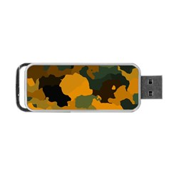 Background For Scrapbooking Or Other Camouflage Patterns Orange And Green Portable Usb Flash (one Side) by Nexatart