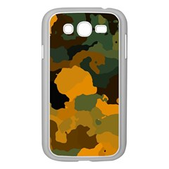 Background For Scrapbooking Or Other Camouflage Patterns Orange And Green Samsung Galaxy Grand Duos I9082 Case (white)