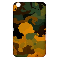 Background For Scrapbooking Or Other Camouflage Patterns Orange And Green Samsung Galaxy Tab 3 (8 ) T3100 Hardshell Case