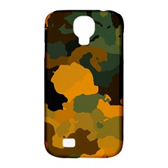 Background For Scrapbooking Or Other Camouflage Patterns Orange And Green Samsung Galaxy S4 Classic Hardshell Case (pc+silicone)