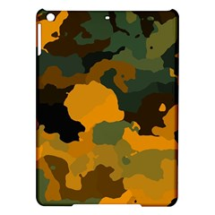 Background For Scrapbooking Or Other Camouflage Patterns Orange And Green Ipad Air Hardshell Cases by Nexatart