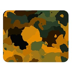 Background For Scrapbooking Or Other Camouflage Patterns Orange And Green Double Sided Flano Blanket (large)  by Nexatart