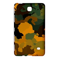 Background For Scrapbooking Or Other Camouflage Patterns Orange And Green Samsung Galaxy Tab 4 (7 ) Hardshell Case  by Nexatart