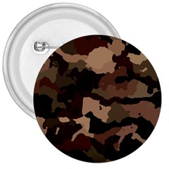 Background For Scrapbooking Or Other Camouflage Patterns Beige And Brown 3  Buttons by Nexatart