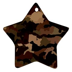 Background For Scrapbooking Or Other Camouflage Patterns Beige And Brown Ornament (star) by Nexatart
