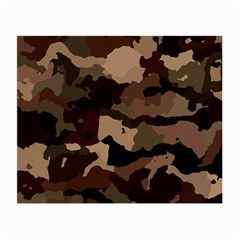 Background For Scrapbooking Or Other Camouflage Patterns Beige And Brown Small Glasses Cloth (2 Side)