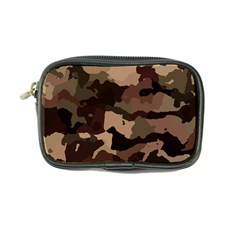Background For Scrapbooking Or Other Camouflage Patterns Beige And Brown Coin Purse by Nexatart