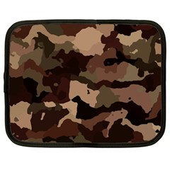 Background For Scrapbooking Or Other Camouflage Patterns Beige And Brown Netbook Case (xxl)