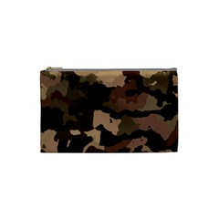 Background For Scrapbooking Or Other Camouflage Patterns Beige And Brown Cosmetic Bag (small)