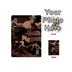 Background For Scrapbooking Or Other Camouflage Patterns Beige And Brown Playing Cards 54 (mini)  by Nexatart