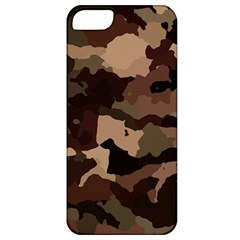 Background For Scrapbooking Or Other Camouflage Patterns Beige And Brown Apple Iphone 5 Classic Hardshell Case by Nexatart