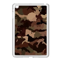 Background For Scrapbooking Or Other Camouflage Patterns Beige And Brown Apple Ipad Mini Case (white)