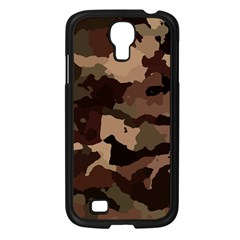 Background For Scrapbooking Or Other Camouflage Patterns Beige And Brown Samsung Galaxy S4 I9500/ I9505 Case (black) by Nexatart