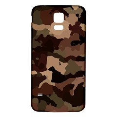 Background For Scrapbooking Or Other Camouflage Patterns Beige And Brown Samsung Galaxy S5 Back Case (White) by Nexatart