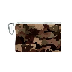 Background For Scrapbooking Or Other Camouflage Patterns Beige And Brown Canvas Cosmetic Bag (S) by Nexatart