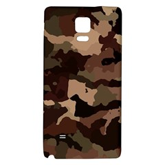 Background For Scrapbooking Or Other Camouflage Patterns Beige And Brown Galaxy Note 4 Back Case