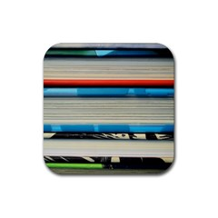 Background Book Books Children Rubber Coaster (square)