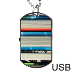 Background Book Books Children Dog Tag Usb Flash (one Side) by Nexatart