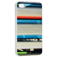Background Book Books Children Apple Iphone 4/4s Seamless Case (white)