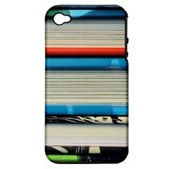 Background Book Books Children Apple Iphone 4/4s Hardshell Case (pc+silicone)