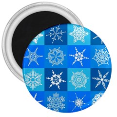 Background Blue Decoration 3  Magnets
