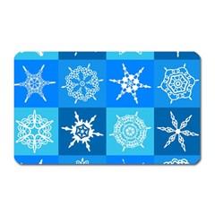 Background Blue Decoration Magnet (rectangular)