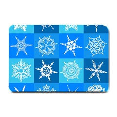 Background Blue Decoration Small Doormat  by Nexatart