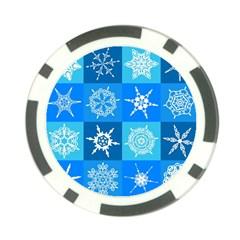 Background Blue Decoration Poker Chip Card Guard by Nexatart
