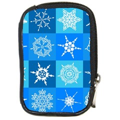 Background Blue Decoration Compact Camera Cases by Nexatart