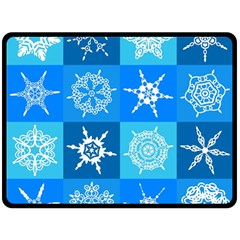Background Blue Decoration Double Sided Fleece Blanket (large)