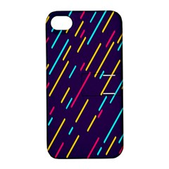 Background Lines Forms Apple Iphone 4/4s Hardshell Case With Stand