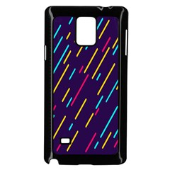 Background Lines Forms Samsung Galaxy Note 4 Case (black) by Nexatart