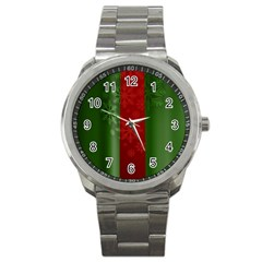 Background Christmas Sport Metal Watch