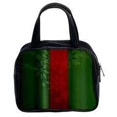 Background Christmas Classic Handbags (2 Sides) by Nexatart