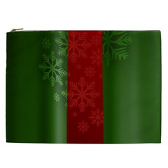 Background Christmas Cosmetic Bag (xxl)  by Nexatart