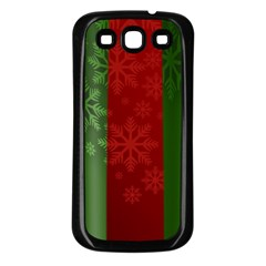 Background Christmas Samsung Galaxy S3 Back Case (black)