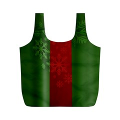 Background Christmas Full Print Recycle Bags (m)