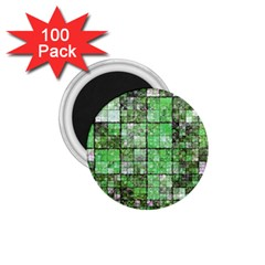 Background Of Green Squares 1 75  Magnets (100 Pack)