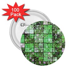 Background Of Green Squares 2.25  Buttons (100 pack)  by Nexatart
